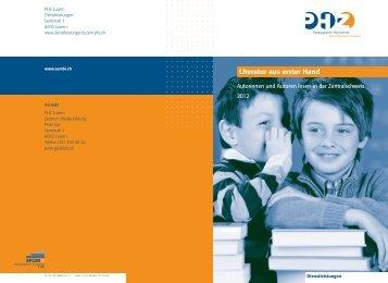 Zentrum Medienbildung - Literatur aus erster Hand - PHZ Luzern