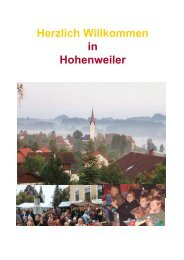 Herzlich Willkommen in Hohenweiler