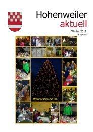 Heizkostenzuschuss 2012/2013 - Hohenweiler