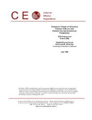 Center for Effective Organizations - University of Southern California