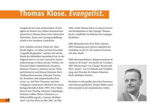 johannespassion js bach - Kreuzkirche Bonn