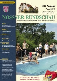 August 2011 - Nossner Rundschau