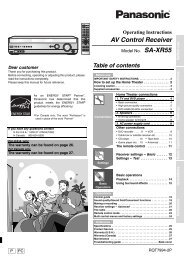 AV Control Receiver - Operating Manuals for Panasonic Products ...