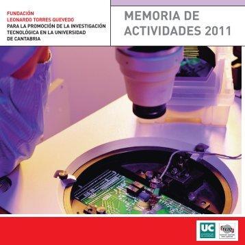Año 2011 - Universidad de Cantabria
