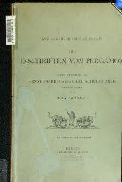 Die Inschriften von Pergamon - Index of