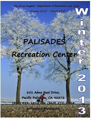 PALISADES Recreation Center - City of Los Angeles Department of ...