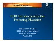 EHR Introduction for the Practicing Physician