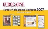 Tarifas y programa editorial 2007 Tarifas y programa ... - Eurocarne