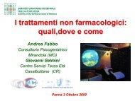 I trattamenti non farmacologici - Associazione Geriatri Extraospedalieri