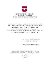 universidad de talca desarrollo de un sistema administrativo