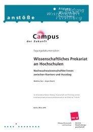 Wissenschaftliches Prekariat an Hochschulen - Technische ...
