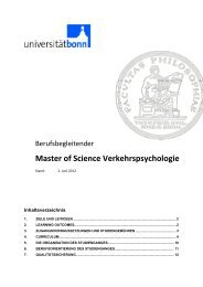 Master of Science Verkehrspsychologie