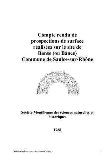 4 Prospection de surface site 001 : Banse - Société Archéologique ...