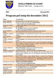 Program pel temp fin december 2012 - Scoula primara da S-chanf