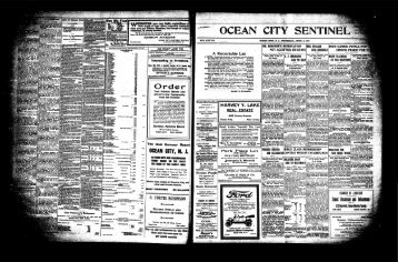 Order m - On-Line Newspaper Archives of Ocean City