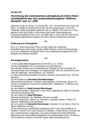 Verordnung des Landratsamtes Ludwigsburg als ... - in Ditzingen