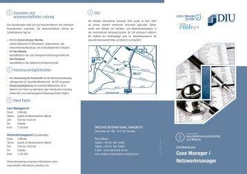 Case Manager / Netzwerkmanager - Dresden International University