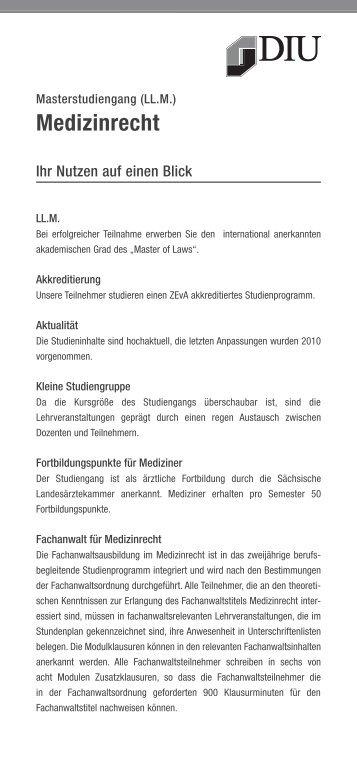 Medizinrecht - Dresden International University
