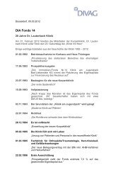 DIA Fonds 14 | 05.03.2012 20 Jahre Dr - divag