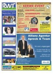 KERWE-EVENT - RWT - Magazin für die Südwestpfalz