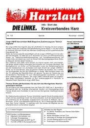 ÿþM i c r o s o f t   W o r d   - N R 1 3 3 - DIE LINKE. Harz