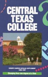 Europe Campus. Addresses - Central Texas College