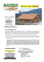 Haustyp WB02 - Maheda Blockhaus