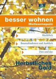WGW - Mieterzeitung - Wohnungsgenossenschaft Wolfen eG