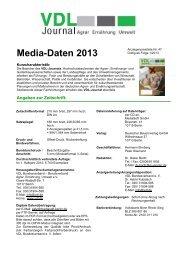 Media-Daten 2013 - VDL - Bundesverband Agrar, Ernährung ...