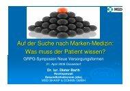 Auf der Suche nach Marken-Medizin: Was muss der Patient ... - GRPG