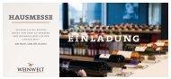 einladung hausmesse - Weinwelt