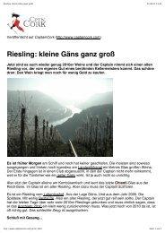 Riesling: kleine Gäns ganz groß - Lubentiushof