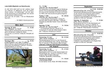 Veranstaltungen & Termine 2012 - NABU Kreisverband ...