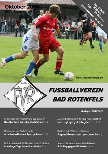 Ausgabe Oktober 2008 Werbung - FV Bad Rotenfels