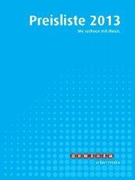 Gewista Preisliste 2013, Einzelseiten, High-Res