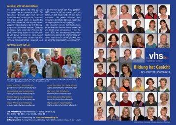 Bildung hat Gesicht - VHS Ahrensburg