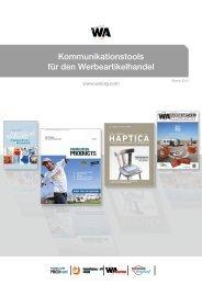 Kommunikation zum Industriekunden - WA Werbeartikel Verlag GmbH