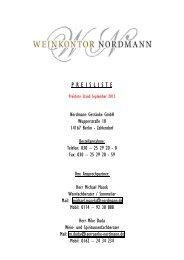 P R E I S L I S T E - Nordmann Getränke