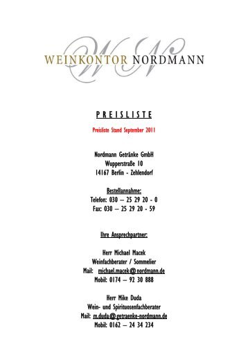 5 free Magazines from NORDMANN.GETRAENKE.DE