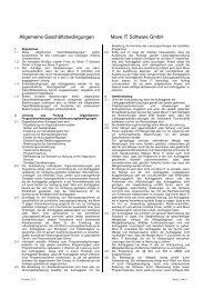 Allgemeine Geschäftsbedingungen - moveIT Software GmbH