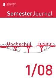 SemesterJournal 1/08 - MBA Programme der HWR Berlin