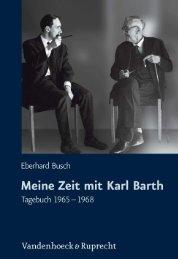 Meine Zeit mit Karl Barth - Vandenhoeck & Ruprecht