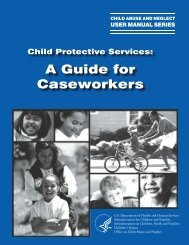 A Guide for Caseworkers - Child Welfare Information Gateway