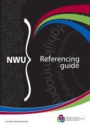 NWU Referencing guide - Potchefstroom University