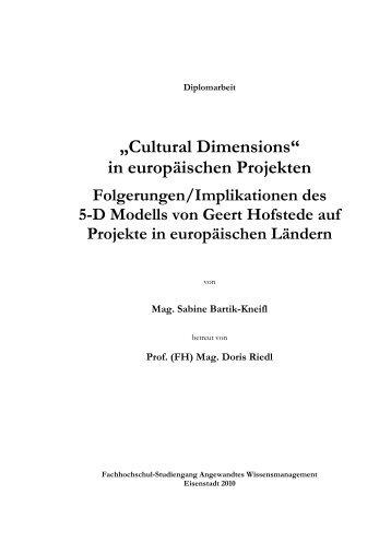 Cultural Dimensions - Fachhochschulstudiengänge Burgenland