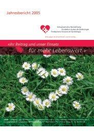 Ihr Beitrag und unser Einsatz für mehr Lebenswert. - Schweizerische ...