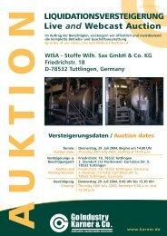 Stoffe Wilh. Sax GmbH & Co. KG D-78532 Tuttlingen • Friedrichstr. 18