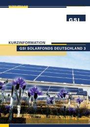gsi solarfonds deutschland 3 - Umweltfonds hochrentabel