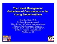 The Latest Management Guidelines of Concussions in the Young ...