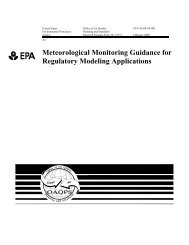 Meteorological Monitoring Guidance for Regulatory Modeling - US ...